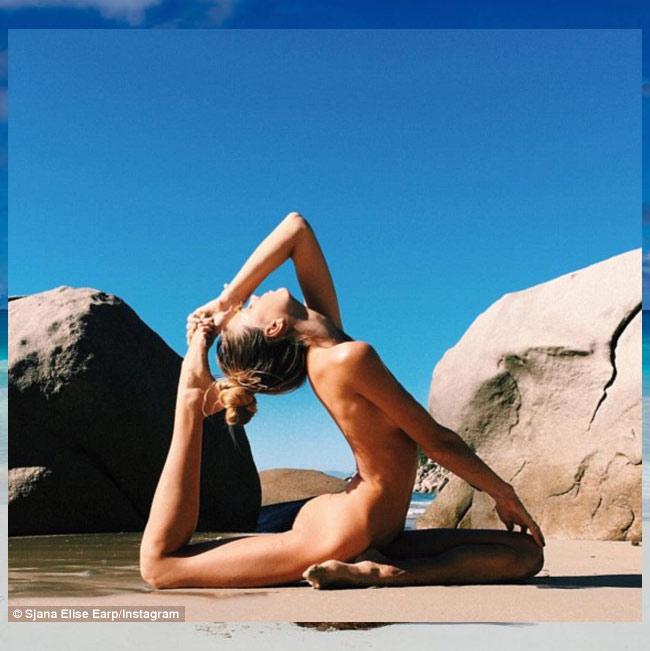 Ngỡ ngàng vì độ dẻo của mỹ nhân thích yoga khỏa thân - hình ảnh 1