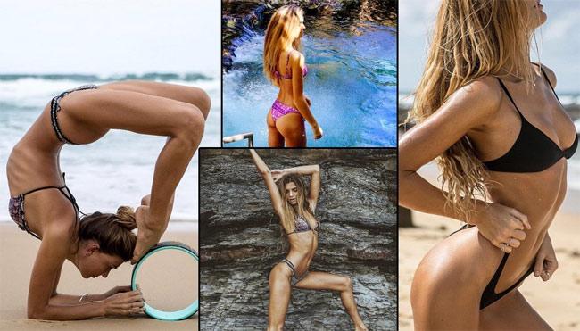 Ngỡ ngàng vì độ dẻo của mỹ nhân thích yoga khỏa thân - hình ảnh 6
