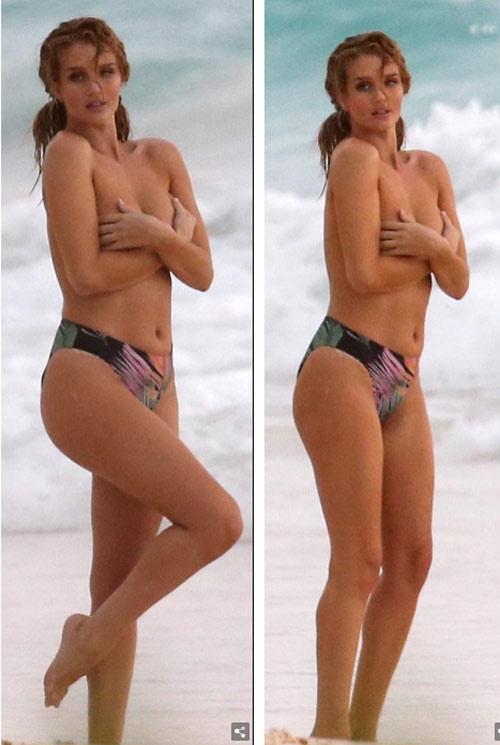 """Chụp bikini giữa dàn trai lạ, hôn thê """"Người vận chuyển"""" bình tĩnh dù lộ ngực - hình ảnh 4"""