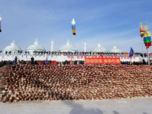Du khách đổ sô chiêm ngưỡng bức tường cá lạ lùng giữa hồ băng - hình ảnh 3