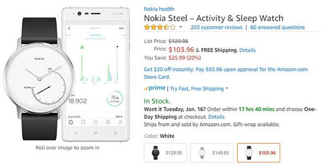 Nhanh tay đặt mua Nokia Steel với giá giảm đến 600.000 đồng - 2