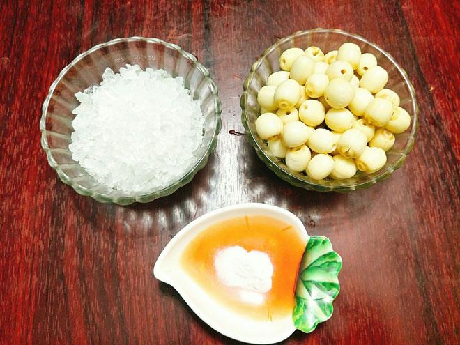 Bí quyết làm mứt hạt sen đường phèn ngọt bùi không bị nát - 2