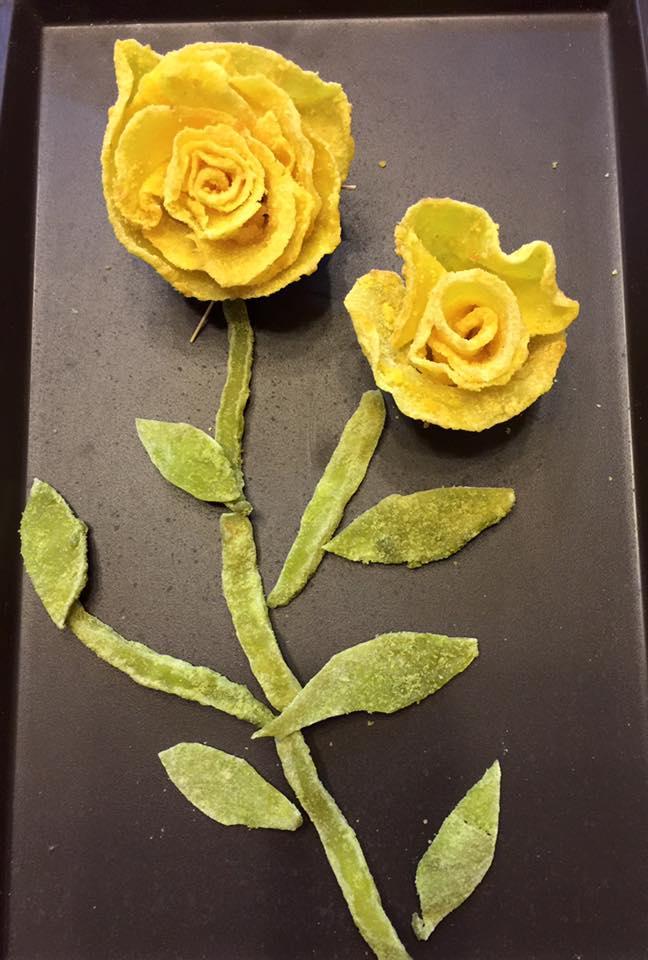 Cách làm mứt khoai tây hoa hồng đẹp mắt, dẻo ngon cho ngày Tết - 14