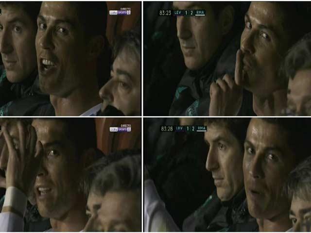 """Ronaldo bị thay ra, bực bội """"chỉ đạo"""" máy quay truyền hình"""