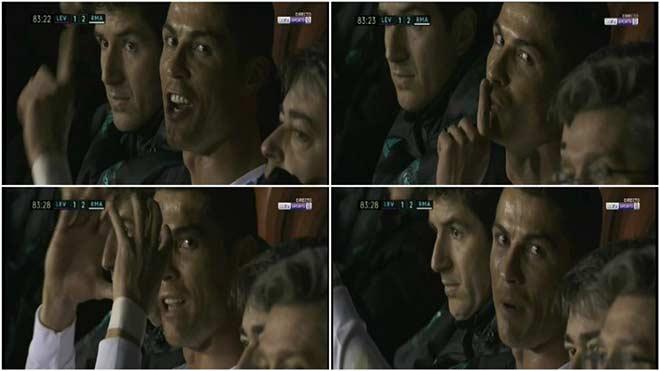 """Ronaldo bị thay ra, bực bội """"chỉ đạo"""" máy quay truyền hình - 1"""