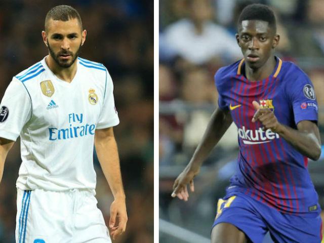 """Chuyển nhượng MU: """"Cuỗm"""" Benzema, nhắm luôn SAO Barca 145 triệu euro"""