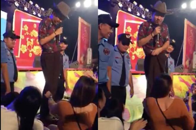 Đến lượt Trường Giang bị fan nữ sờ soạng, kéo quần trên sân khấu - hình ảnh 1