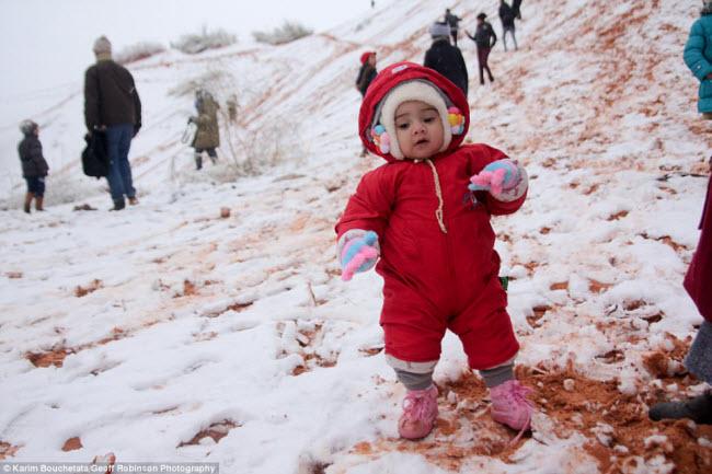 Du khách đổ xô tới sa mạc Sahara ngắm tuyết rơi - hình ảnh 3