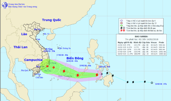 Tối nay, bão Sanba giật cấp 10 đi vào Biển Đông - hình ảnh 1