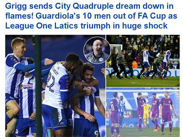 """Man City tan vỡ mộng ăn 4, báo Anh thừa dịp """"dìm hàng"""""""