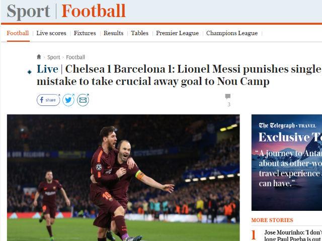 """Chelsea chiến Barca: Báo Anh công kích """"Terry đệ nhị"""", xứ đấu bò ca ngợi Messi"""