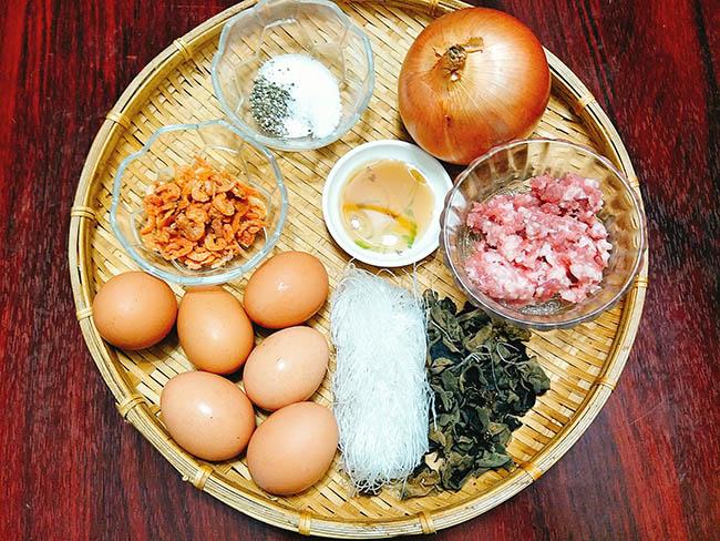 cách làm trứng hấp thịt (01)