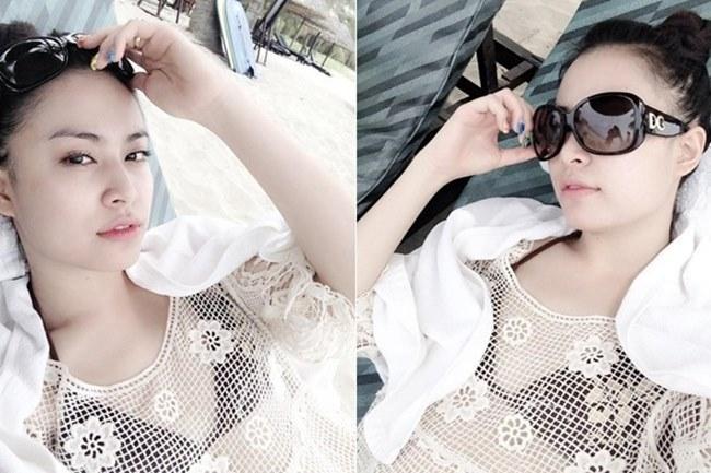 Mỹ nhân Việt kín hở với áo lưới đi biển đầy khiêu khích - hình ảnh 7