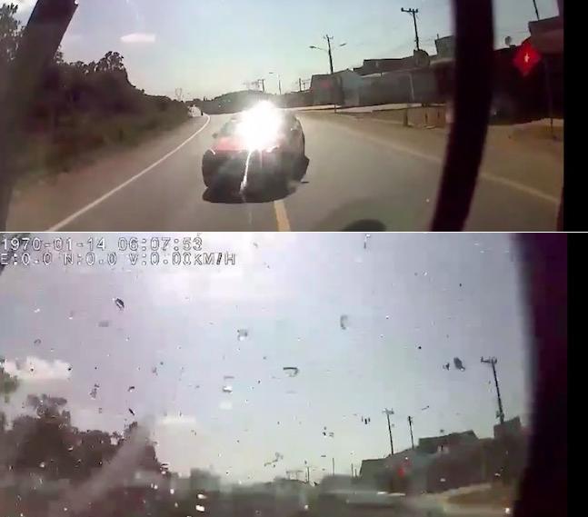 """Thông tin mới về clip xe khách và ô tô con tông nhau như """"sấm sét"""" - 1"""