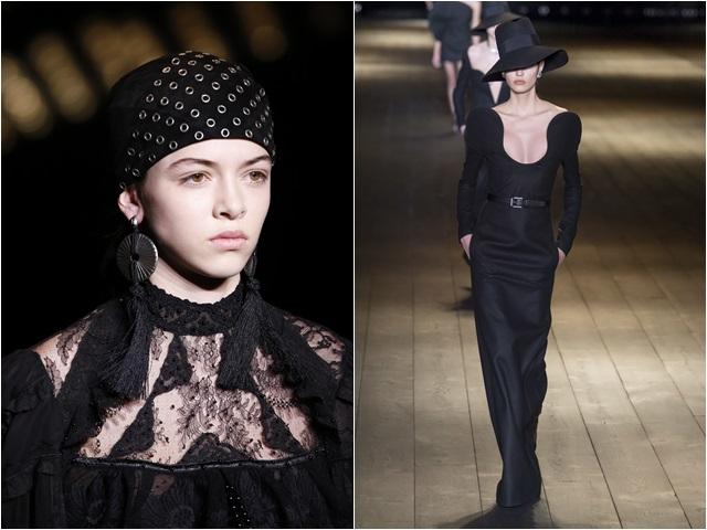 """Quý cô Paris """"đen toàn tập"""" đầy khí chất của YSL"""