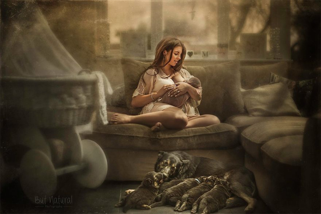 Mê mẩn với bộ ảnh mẹ cho con bú của nhiếp ảnh gia Ấn Độ - hình ảnh 6