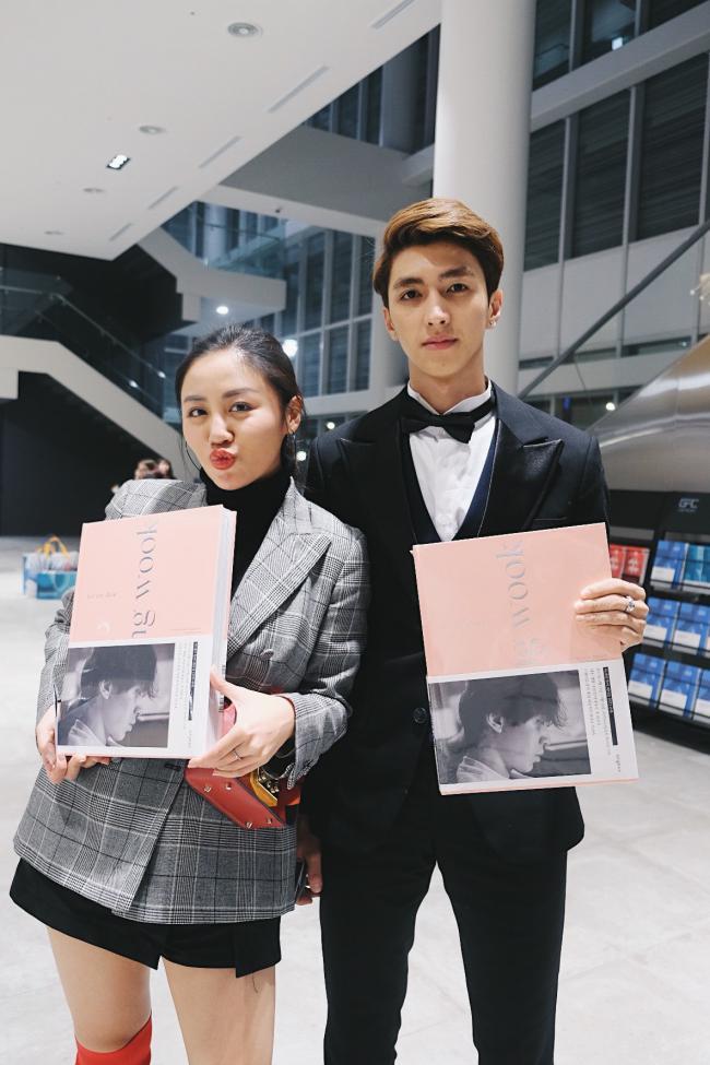 Sau nghi án hẹn hò, Văn Mai Hương – Bình An nắm tay nhau đi gặp Lee Dong Wook - hình ảnh 1