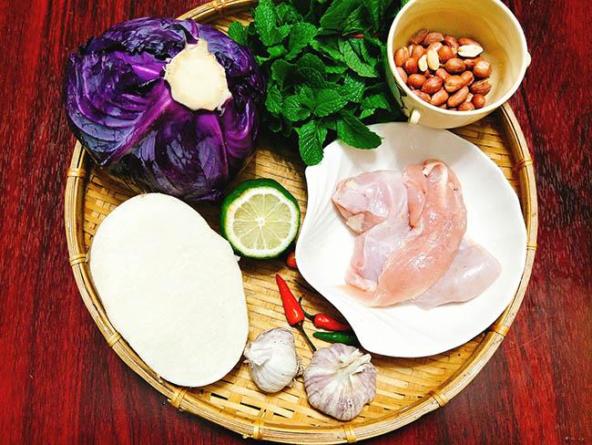 cách làm nộm gà củ đậu | Món Miền Trung