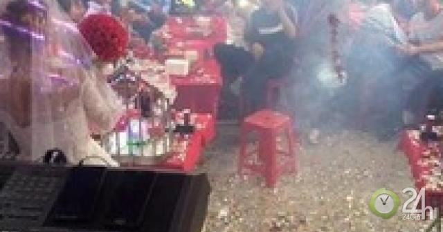 Mang pháo tới đám cưới đốt nổ tưng bừng, nam thanh niên bị khởi tố