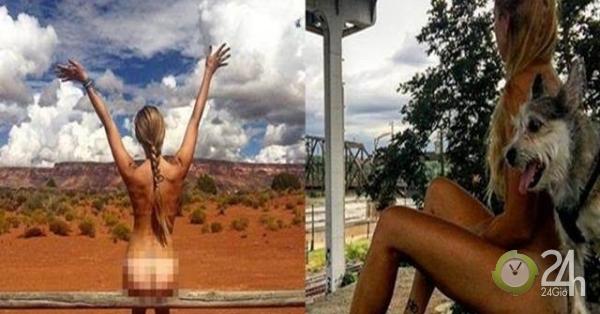 Để quên bạn trai cũ, nữ bác sĩ chụp ảnh khỏa thân nơi hoang dã