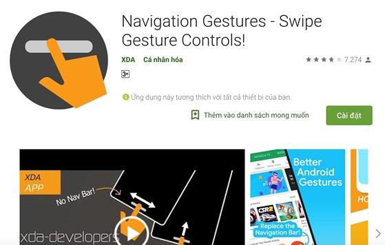 Cách mang các cử chỉ vuốt trên iPhone X lên Android - 1