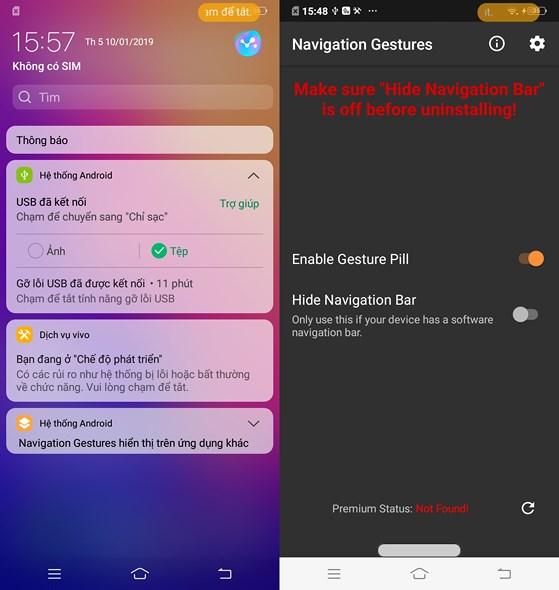 Cách mang các cử chỉ vuốt trên iPhone X lên Android - 3