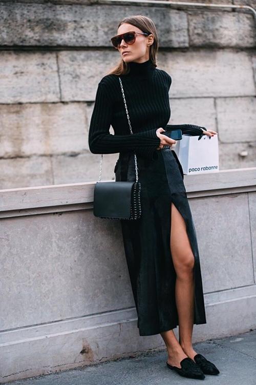 Áo cổ lọ đen không hề nhàm chán vì có cả chục cách mặc đẹp - 3