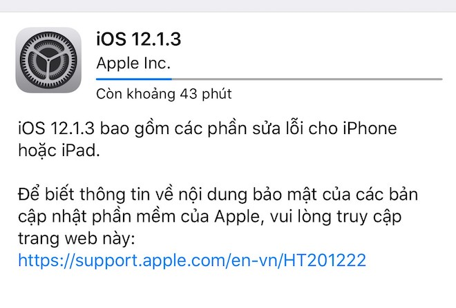 Apple tung bản cập nhật iOS 12 1 3 không sửa lỗi mất kết nối dữ liệu
