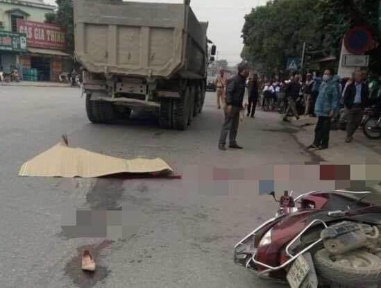 Thiếu phụ mang thai đôi 7 tháng tử vong thương tâm sau va chạm với xe tải