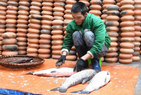 Làng Vũ Đại trắng đêm sản xuất cá kho phục vụ Tết - 4