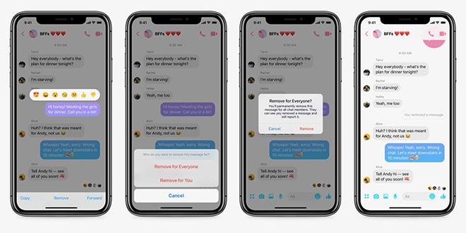 Facebook Messenger chính thức cho phép thu hồi tin nhắn - 1