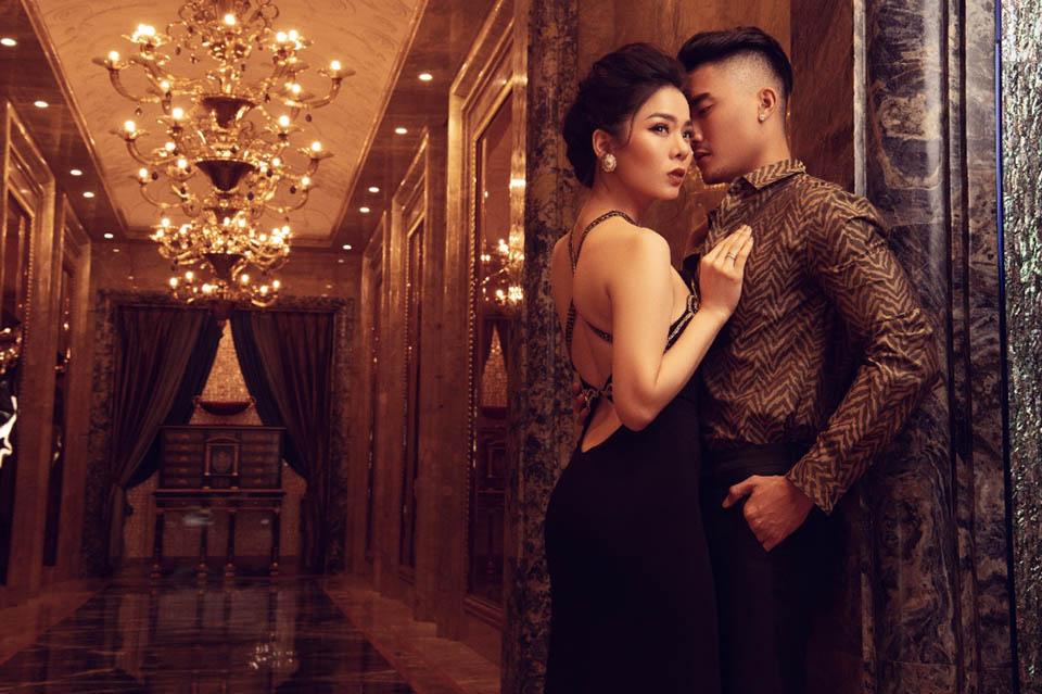 Đón Valentine, Lệ Quyên cùng siêu mẫu nam vào khách sạn 6 sao chụp ảnh - 8