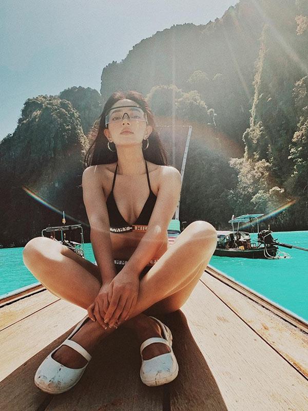 Châu Bùi tung loạt ảnh bikini siêu nóng bỏng cùng bạn trai - 6