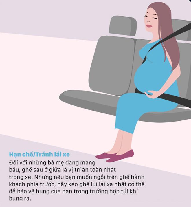 Kinh nghiệm ngồi xe ôtô an toàn cho phụ nữ mang thai - 3