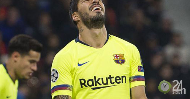 Suarez chân gỗ Messi không gánh nổi: Barca vẫn có bùa may mắn