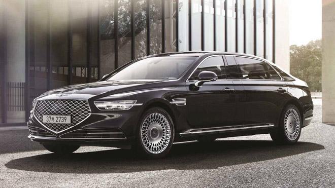 "Genesis tiếp tục ra mắt sedan hạng sang giá ""rẻ"" G90 Limousine - 1"