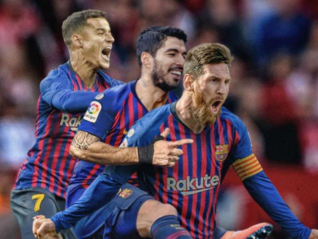 """Chấm điểm siêu sao vòng 25 Liga: Messi """"gầm vang"""" rực rỡ siêu hat-trick"""