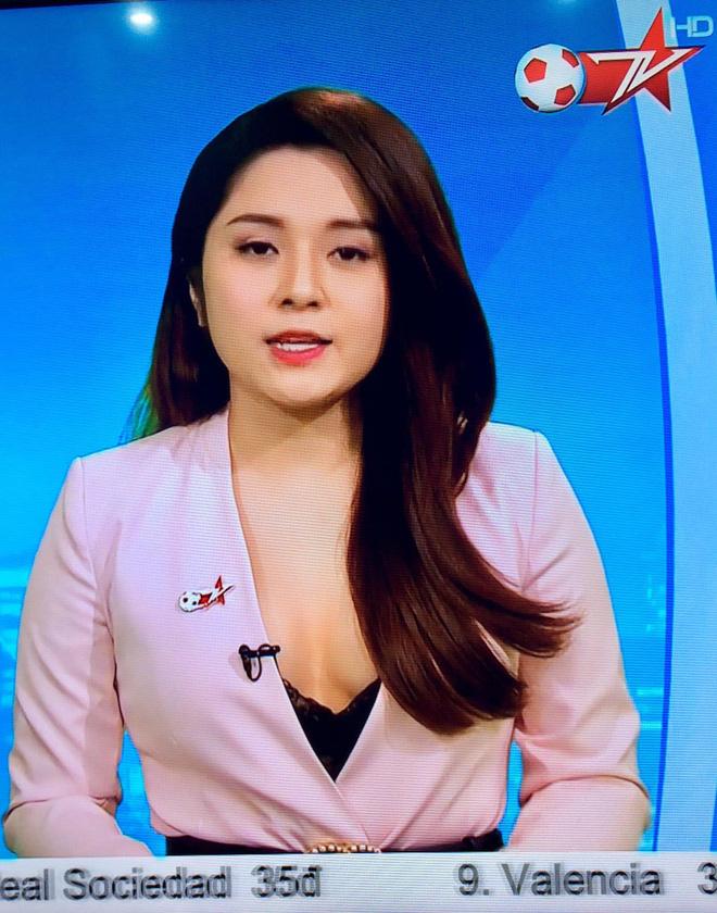 Nữ MC thể thao ăn mặc quá gợi cảm trên sóng truyền hình Việt là ai? - 2