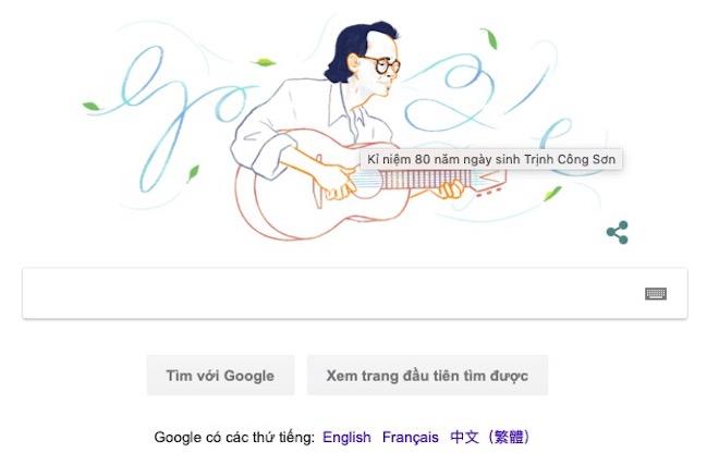 Nhạc sĩ Trịnh Công Sơn, nghệ sĩ Việt đầu tiên được vinh danh trên Google Search - 1
