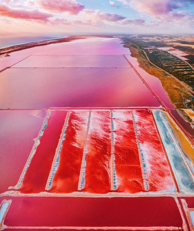 Giật mình phát hiện hồ nước màu hồng duy nhất trên thế giới - 8