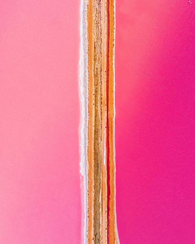 Giật mình phát hiện hồ nước màu hồng duy nhất trên thế giới - 4