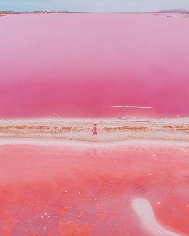 Giật mình phát hiện hồ nước màu hồng duy nhất trên thế giới - 5