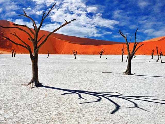 Sa mạc nguy hiểm nhất thế giới, nơi cồn cát đỏ rực mọc trên nền đất trắng như tuyết - 6
