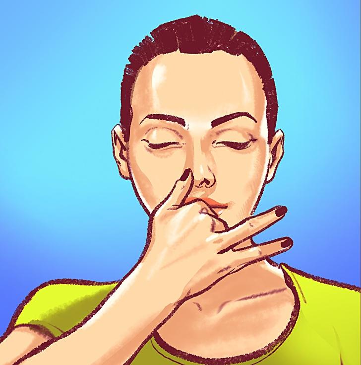 Kết quả hình ảnh cho thở bằng lỗ mũi trái