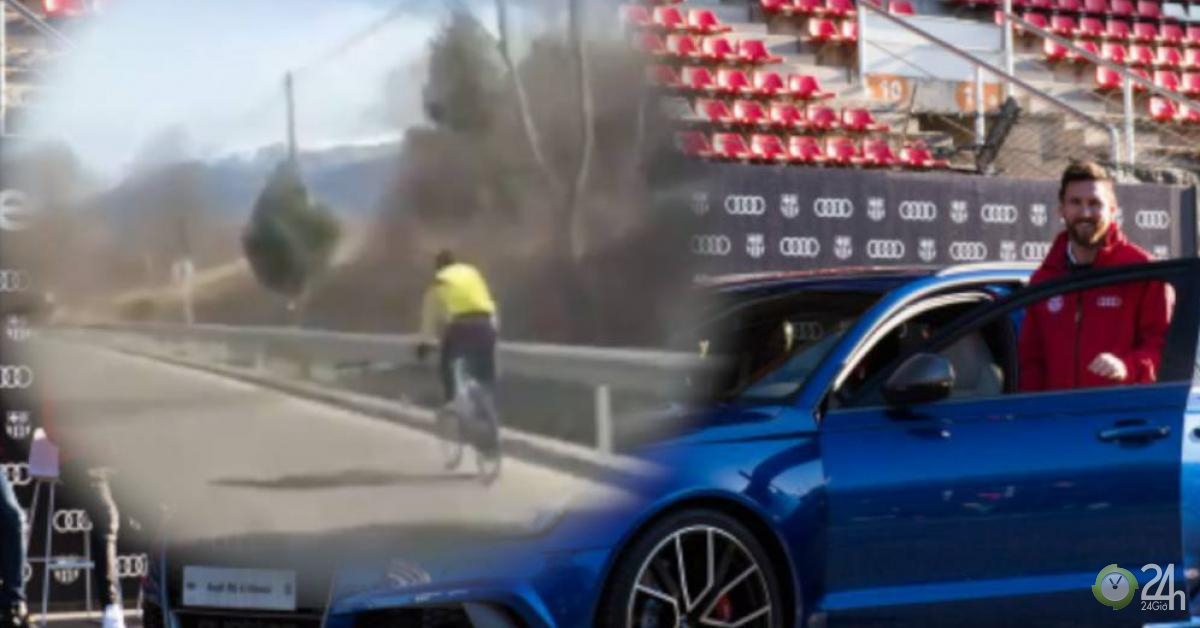 Lionel Messi bỗng dưng ngổ ngáo: Đang đi tạt đầu tay đua xe đạp