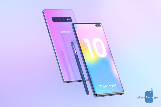 Galaxy Note 10 siêu đẹp xuất hiện, thách thức iPhone 11 - 1