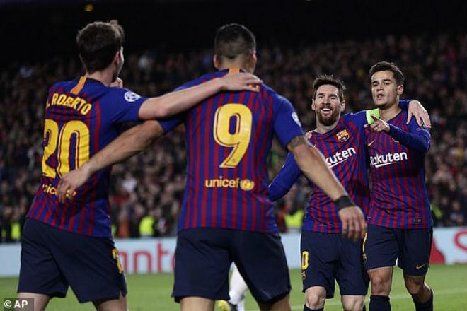 Barcelona 5-1 Lyon : Tuyệt đỉnh Messi, đại tiệc bàn thắng