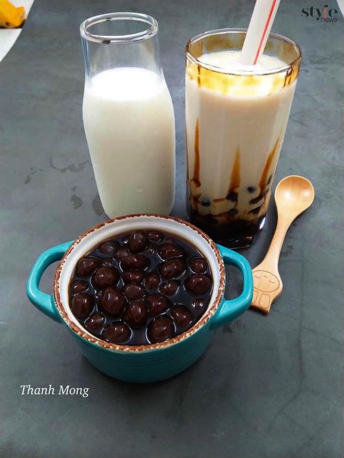 Cách tự làm sữa tươi trân châu đường đen ngon hơn ngoài hàng - 1