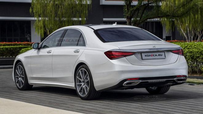 Lộ ảnh đồ hoạ của Mercedes-Benz S-Class thế hệ mới - 2