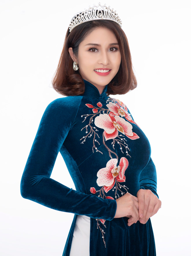Hoa hậu Áo dài đọ sắc vợ cũ Phan Thanh Bình với váy màu nude - 6